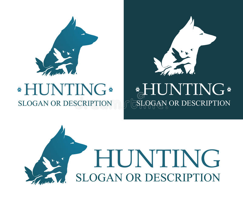 Логотип охотничьей собаки бесплатная иллюстрация