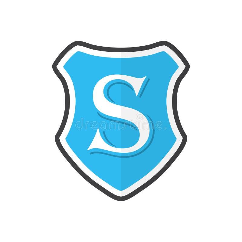 Логотип охранной компании Логотип экрана с письмом s иллюстрация вектора