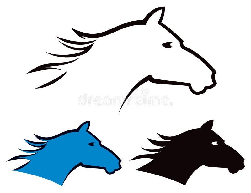 Логотип лошади иллюстрация вектора