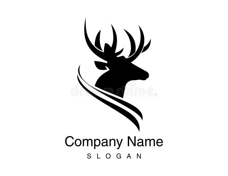 Логотип оленей иллюстрация вектора