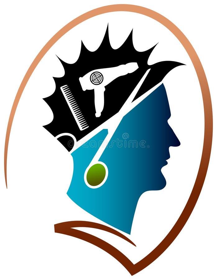 Логотип парикмахерскаи бесплатная иллюстрация