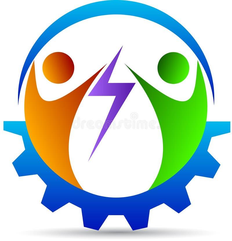 Логотип партнерства дела иллюстрация вектора