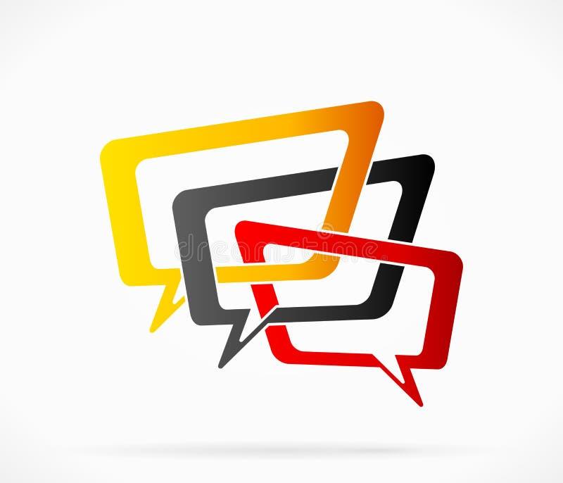 Логотип переговора иллюстрация вектора
