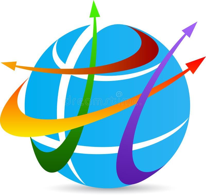 Логотип перемещения иллюстрация штока