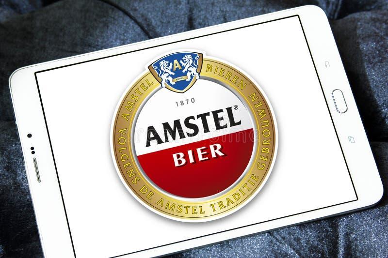 Логотип пива Amstel стоковое изображение