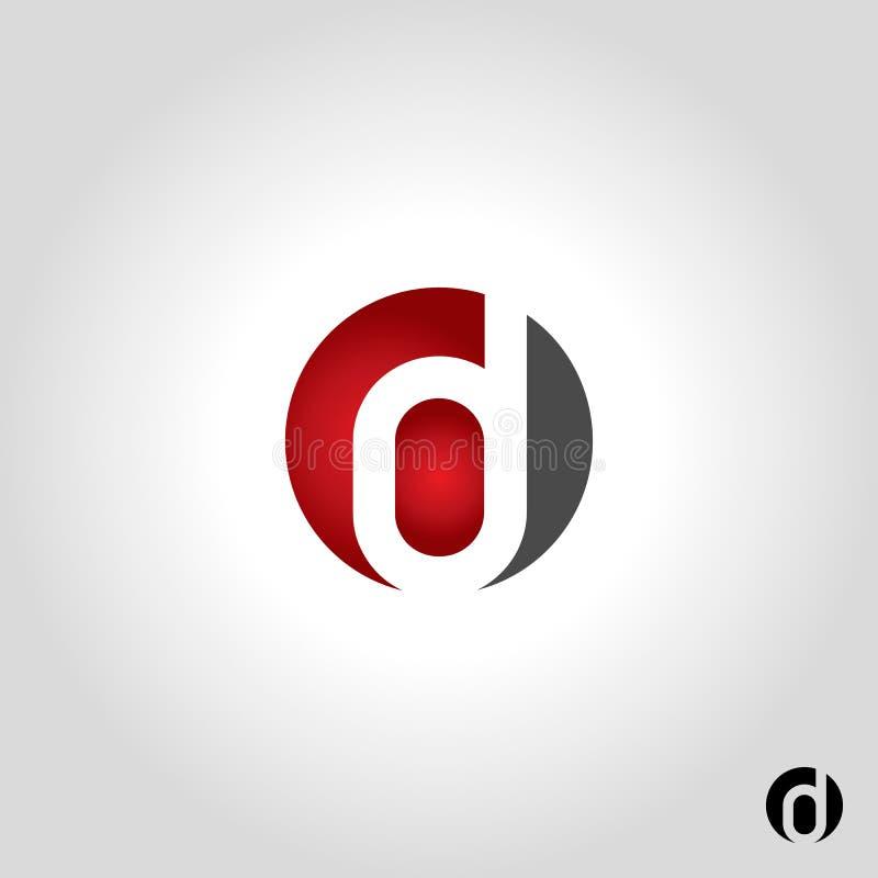 Логотип письма d иллюстрация штока