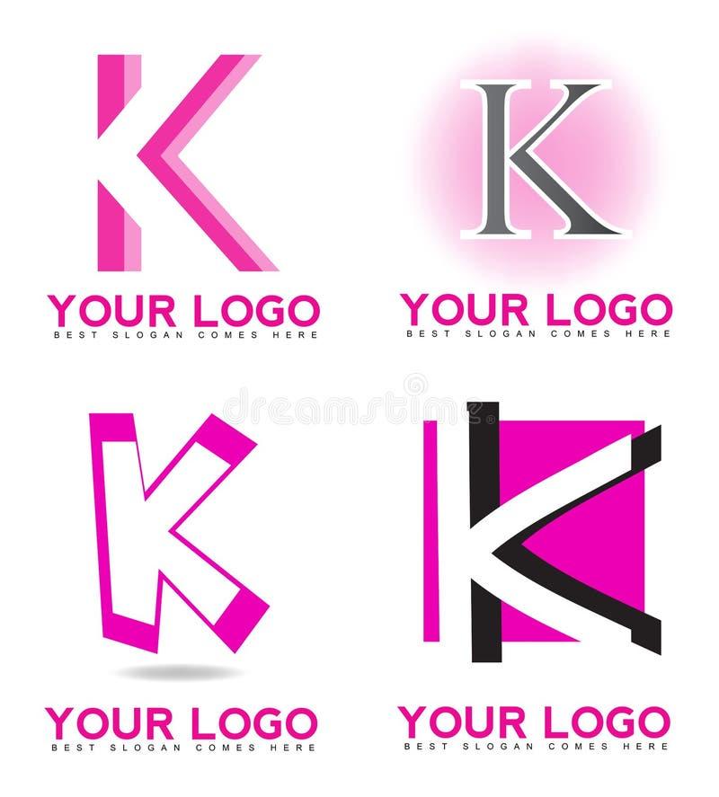 Логотип письма k иллюстрация вектора