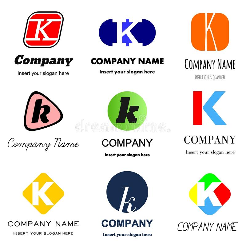 Логотип письма k иллюстрация штока