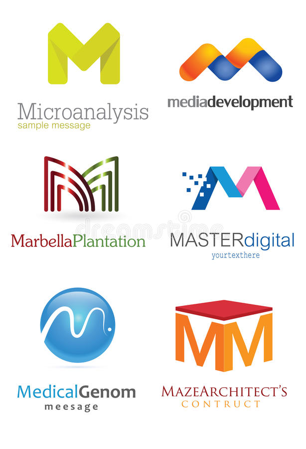 Логотип письма m иллюстрация штока