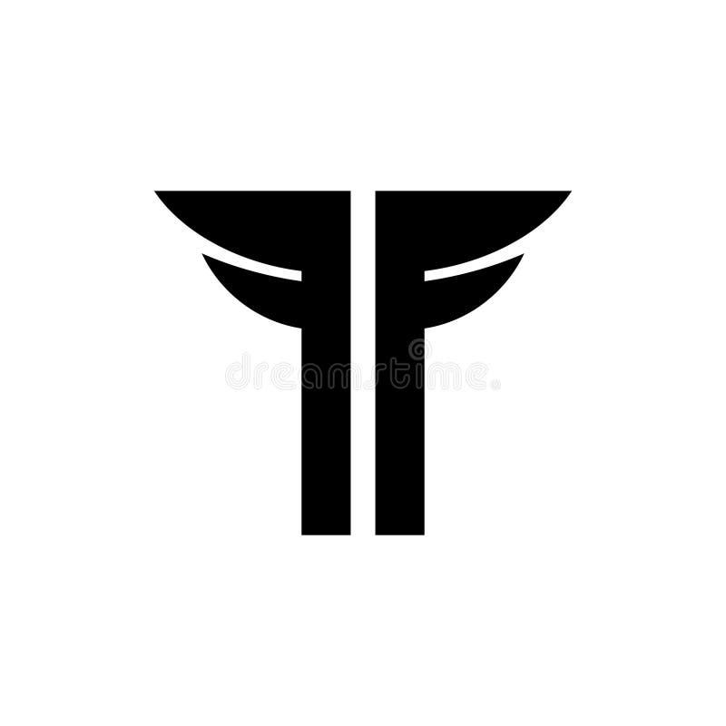Логотип письма t иллюстрация штока