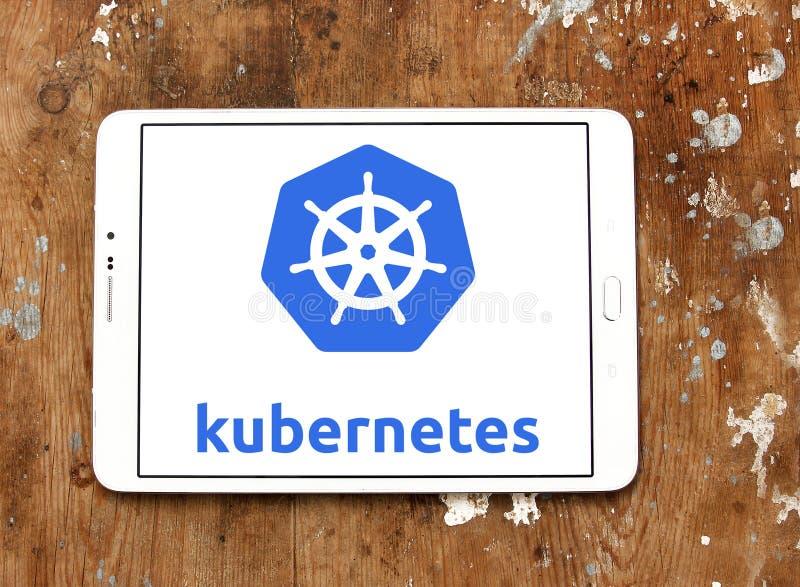 Логотип платформы Kubernetes стоковые фото