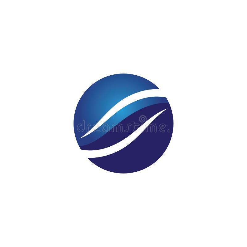 Логотип пляжа волн голубые и приложение значков шаблона символов бесплатная иллюстрация