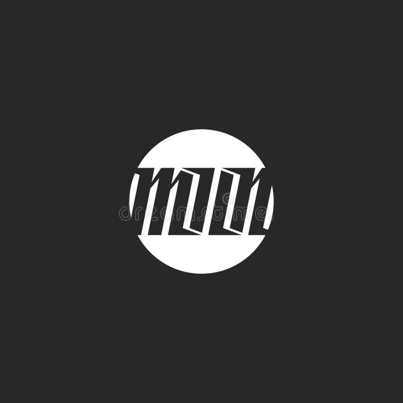 Логотип полнолуния помечая буквами черно-белый отрицательный стиль космоса, современное слово каллиграфии для печати футболки иллюстрация штока