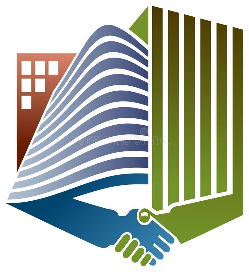 Логотип построителей иллюстрация штока