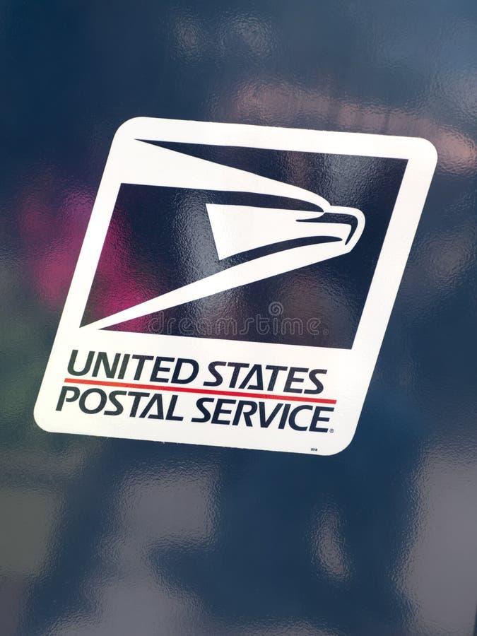 Логотип почтовой службы Соединенных Штатов стоковая фотография
