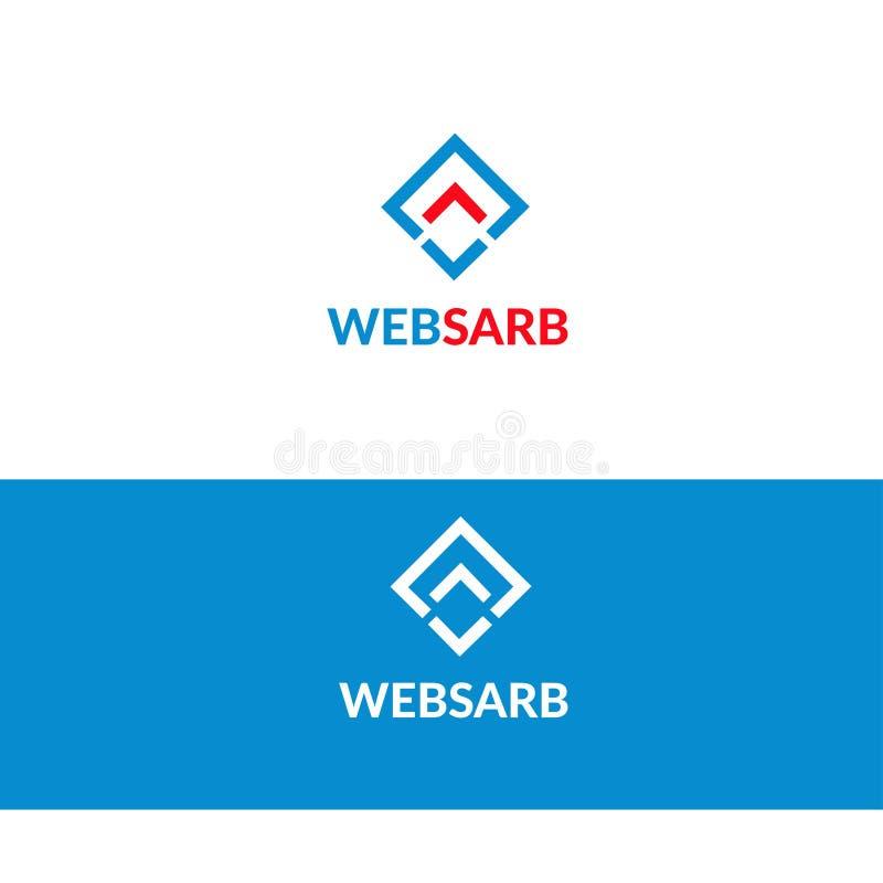 Логотип программного обеспечения сети - - иллюстрация логотипа запаса иллюстрация штока