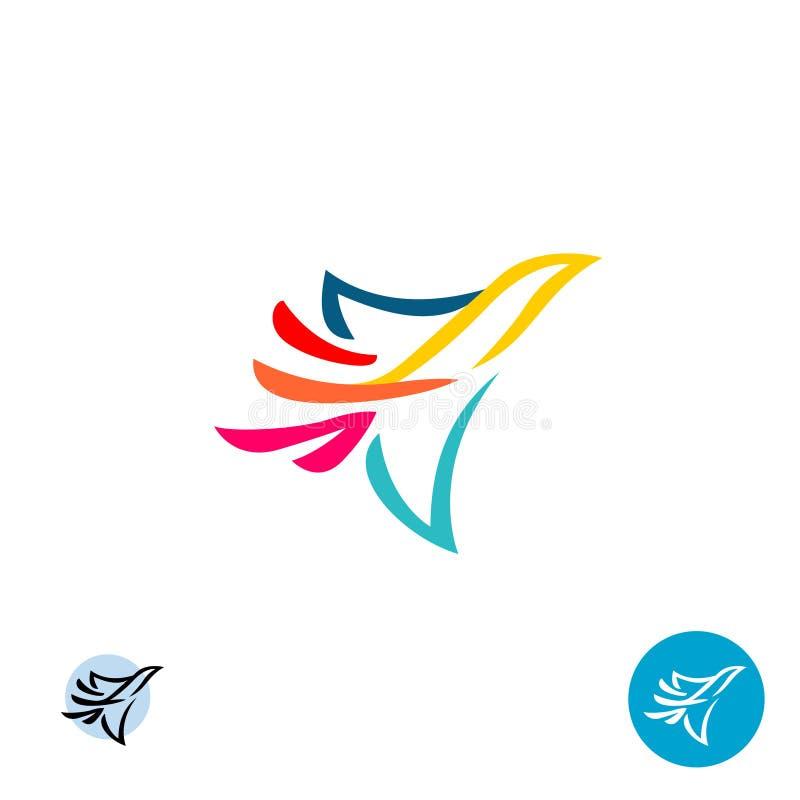 Логотип птицы голубя элегантный иллюстрация штока