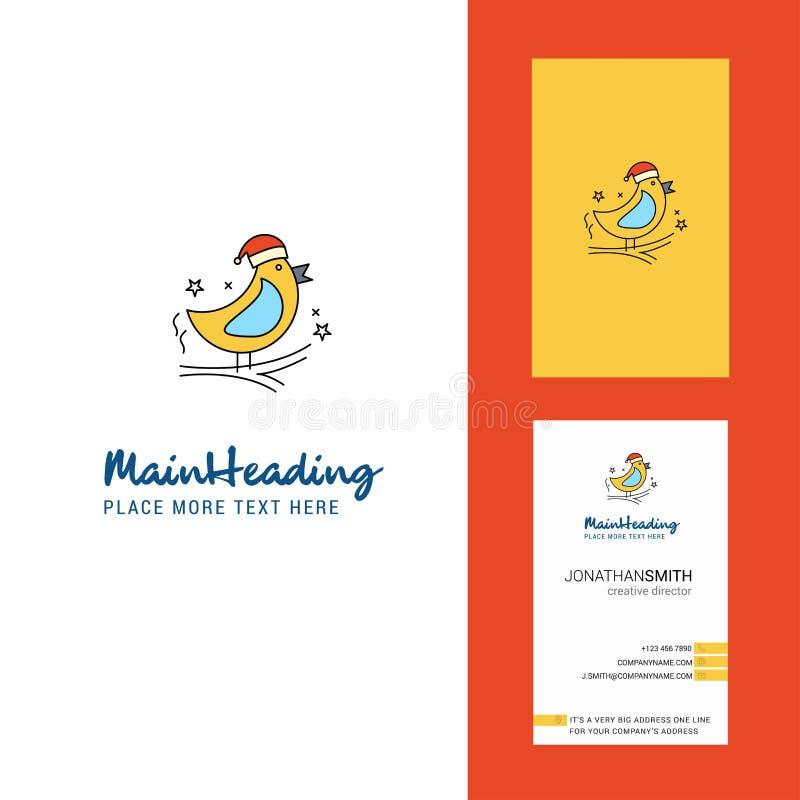 Логотип птицы творческие и визитная карточка вертикальный вектор дизайна бесплатная иллюстрация