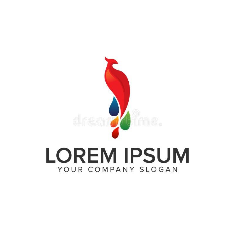 Логотип птицы Феникса иллюстрация вектора