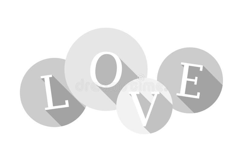 Логотип пузыря 2-тона значка ВЛЮБЛЕННОСТИ плоский бесплатная иллюстрация