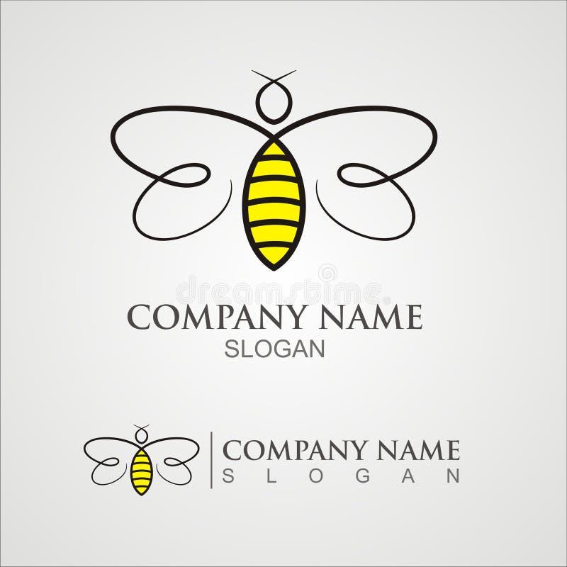 Логотип пчелы иллюстрация вектора