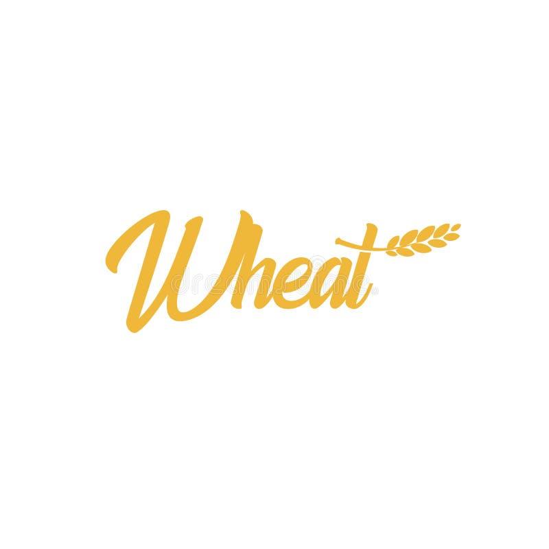 Логотип пшеницы зерна, значок ячменя, логотип овса, знак риса, эмблема удара Вектор сбора цвета земледелия яркий золотой иллюстрация штока