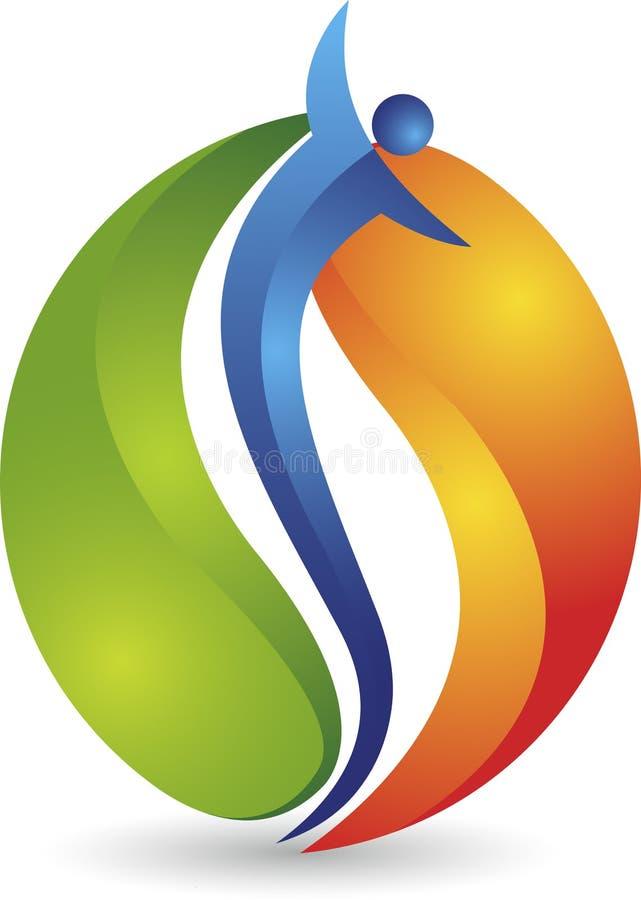 Логотип пламени людей иллюстрация штока
