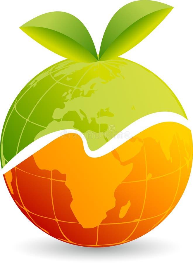 Логотип плодоовощ иллюстрация штока