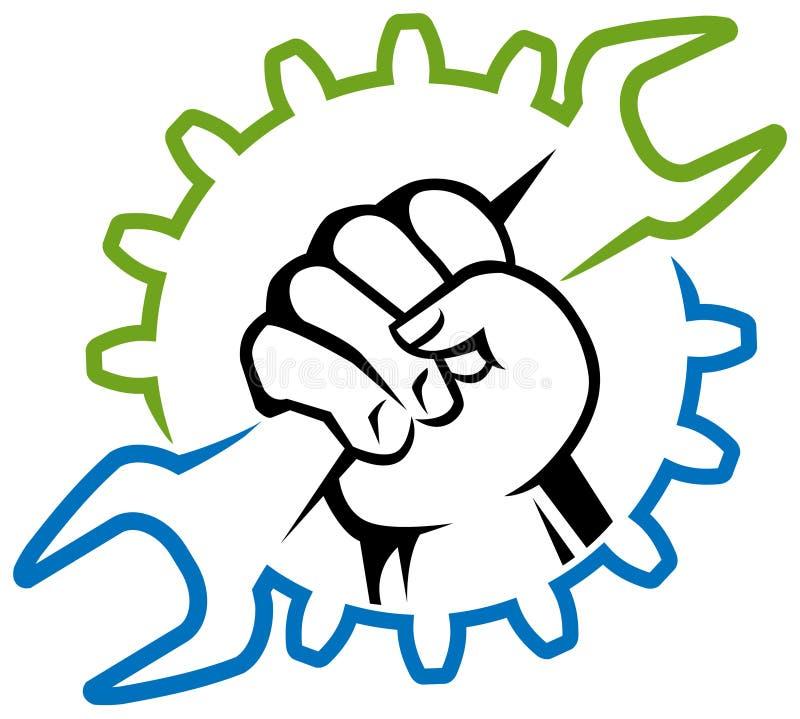 Логотип рабочего класса бесплатная иллюстрация