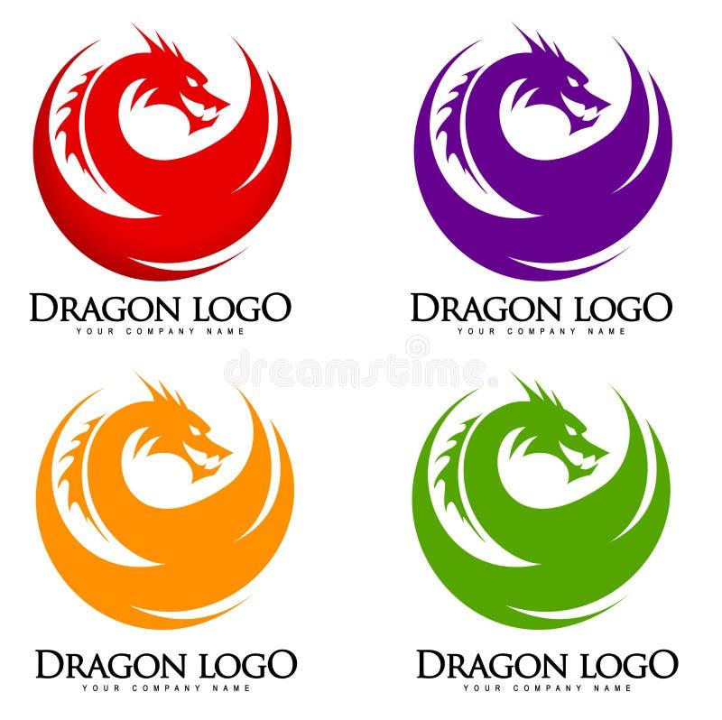 Логотип дракона иллюстрация вектора