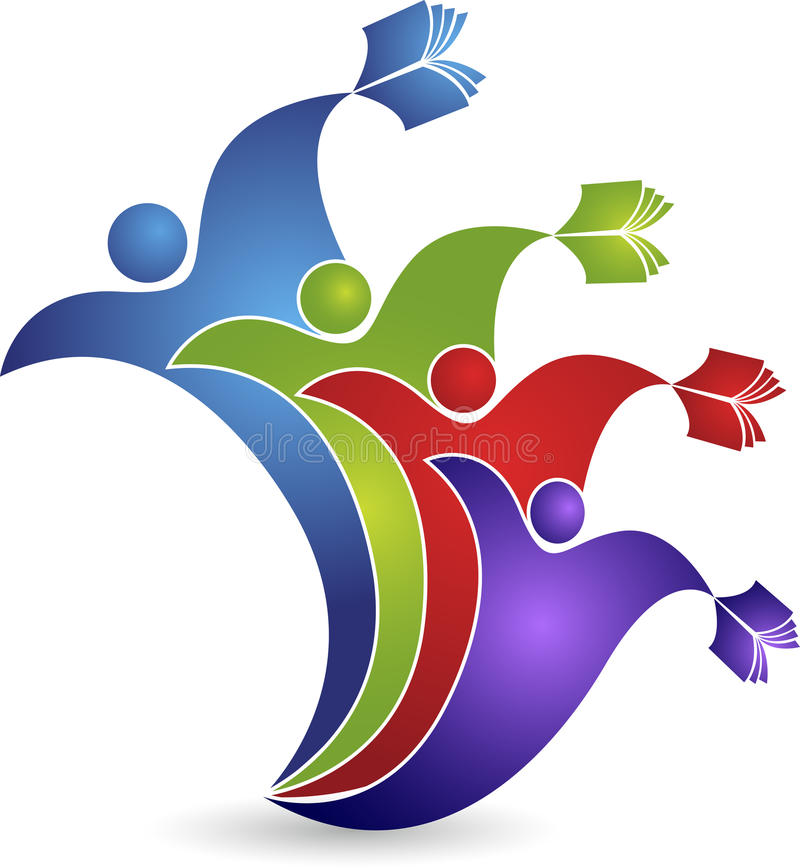 Логотип роста образования иллюстрация штока