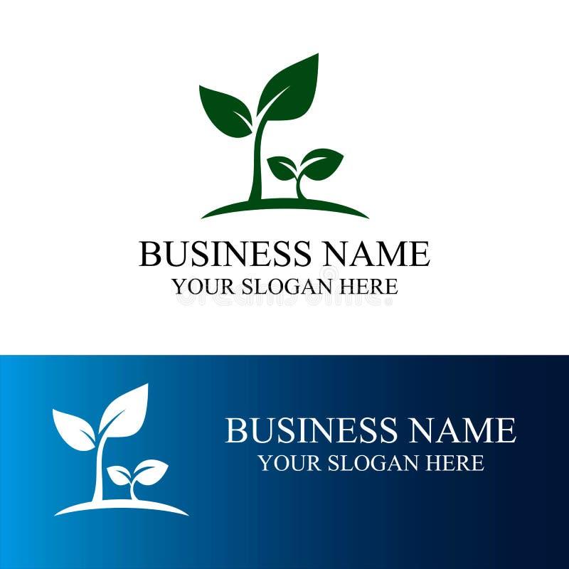 Логотип ростка иллюстрация штока
