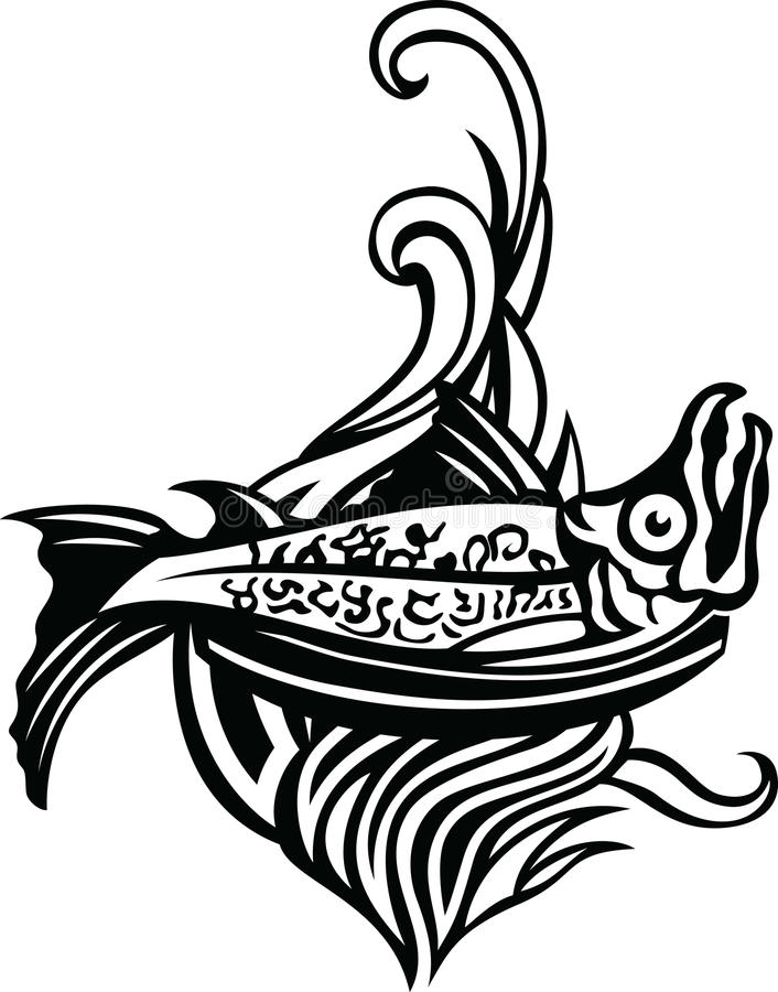 Логотип рыб гриля иллюстрация вектора