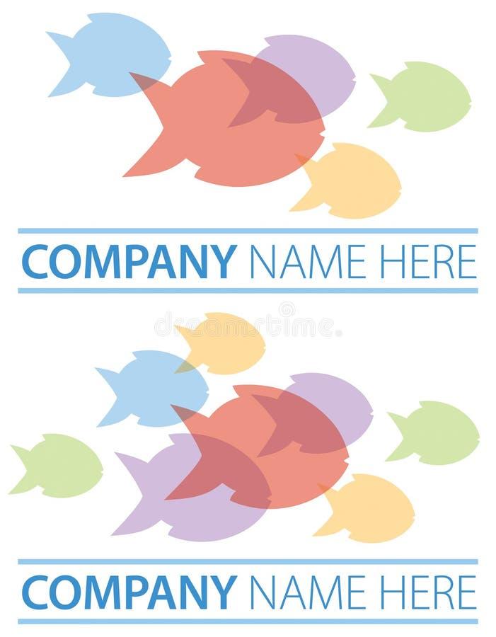 Логотип рыб группы иллюстрация вектора