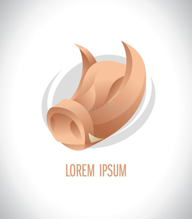 Логотип свиньи головной иллюстрация штока