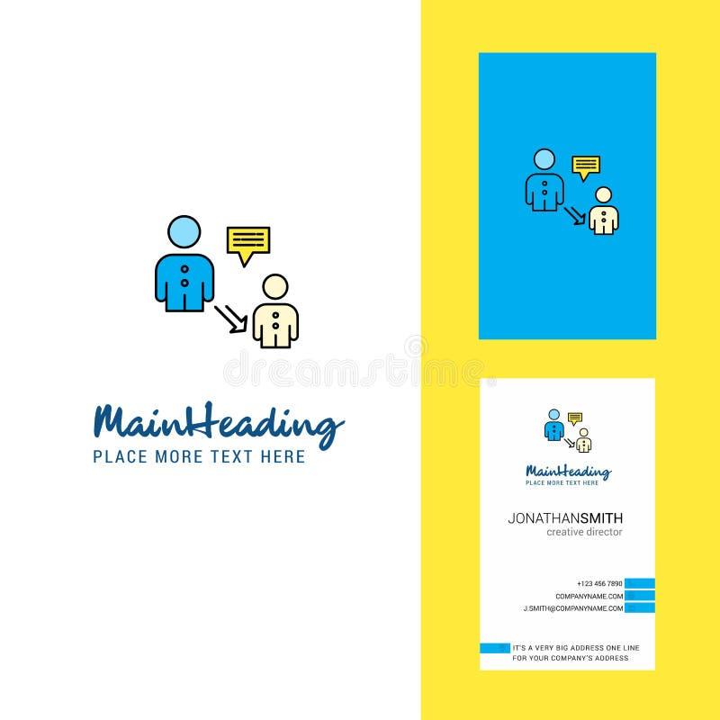 Логотип связи творческие и визитная карточка вертикальный вектор дизайна иллюстрация вектора