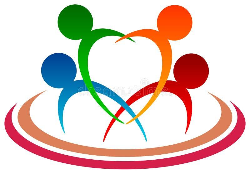 Логотип семьи иллюстрация вектора