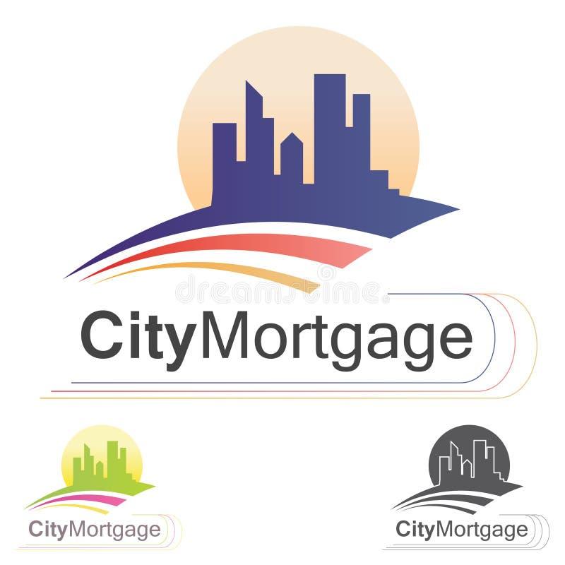 Логотип снабжения жилищем иллюстрация штока