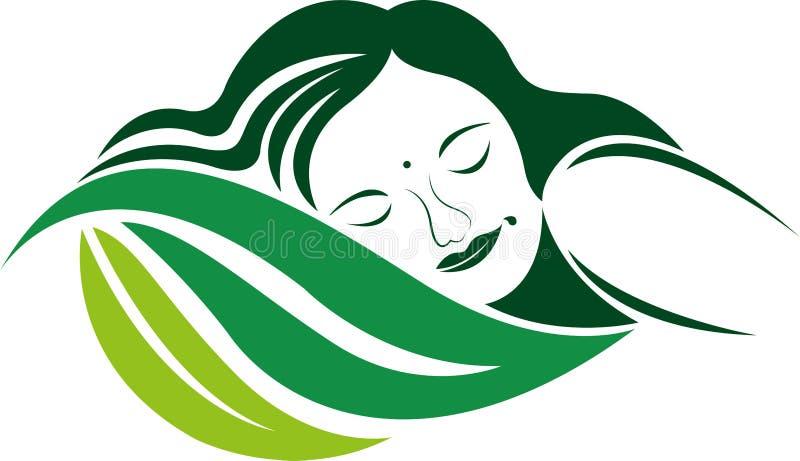 Логотип сна Eco иллюстрация штока