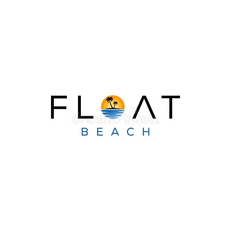Логотип современного пляжа иллюстрация вектора