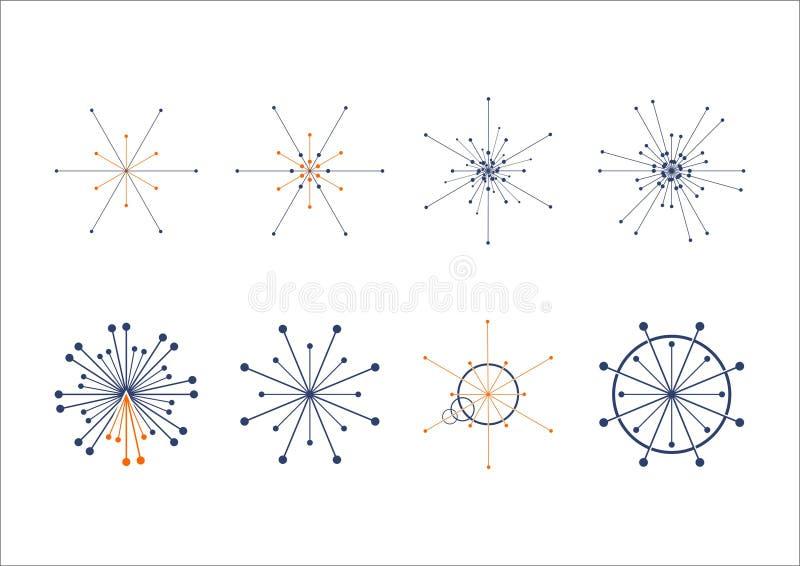 Логотип соединения точки круга бесплатная иллюстрация