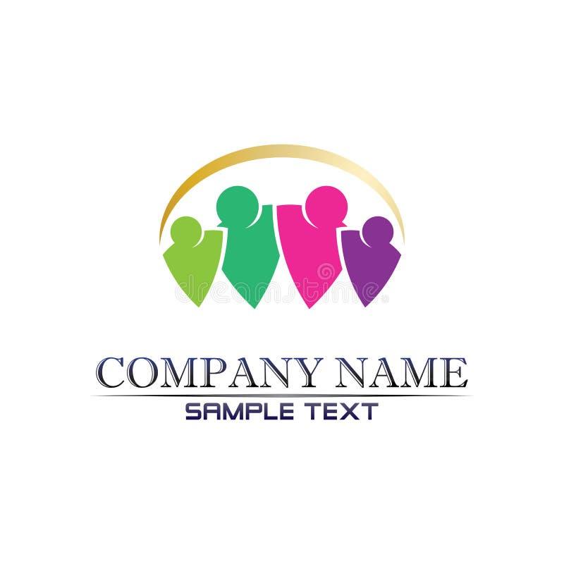 Логотип сообщества Care People Icons В Окружной Векторной Концепции Взаимодействие бесплатная иллюстрация
