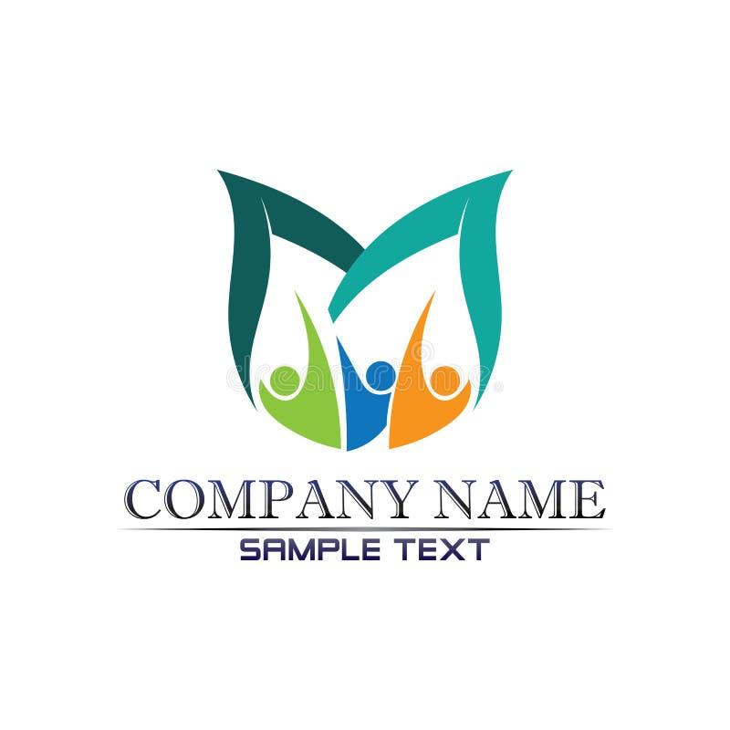 Логотип сообщества Care People Icons В Окружной Векторной Концепции Взаимодействие иллюстрация вектора