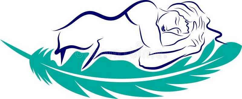 Логотип спать мухы бесплатная иллюстрация