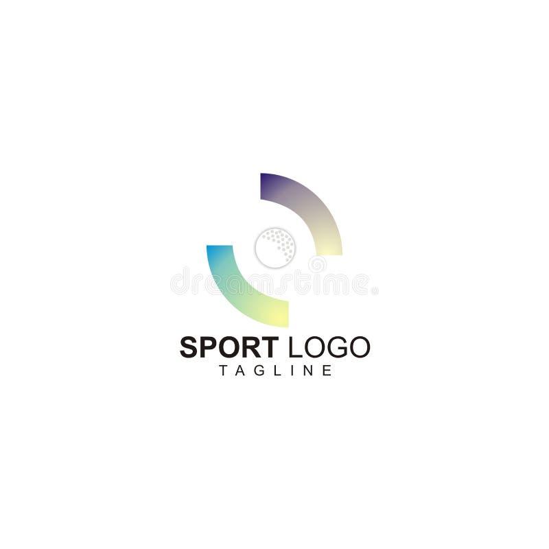 Логотип спорта с дизайном шара для игры в гольф иллюстрация штока