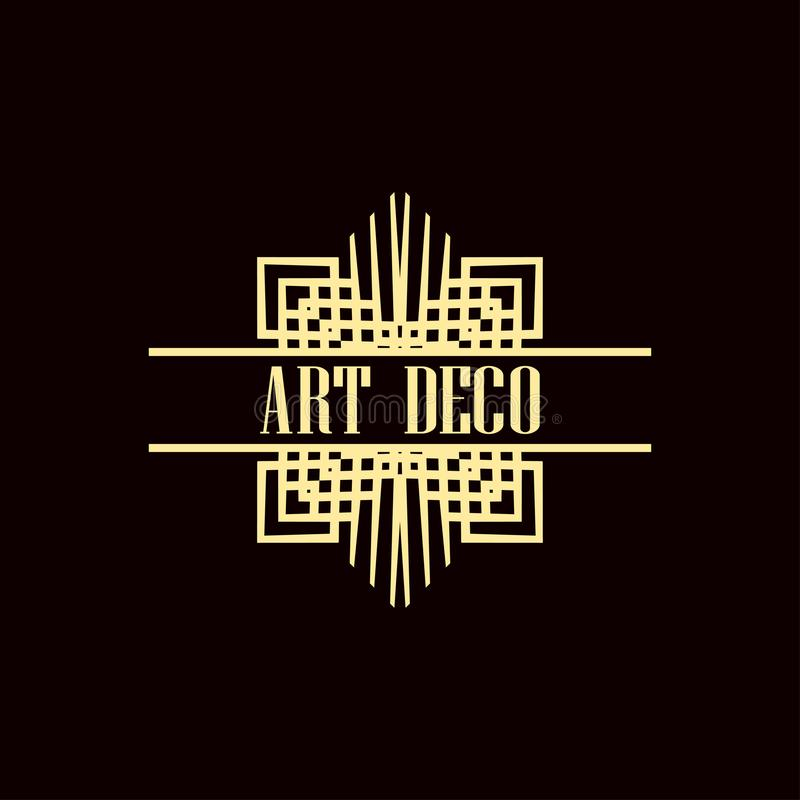 Логотип стиля Арт Деко стоковое изображение rf