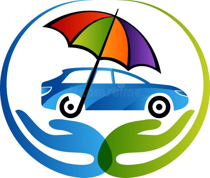 Логотип страхования автомобилей иллюстрация штока