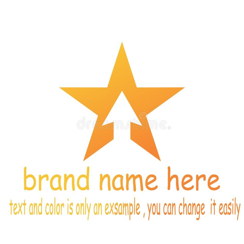Логотип стрелки звезды иллюстрация штока