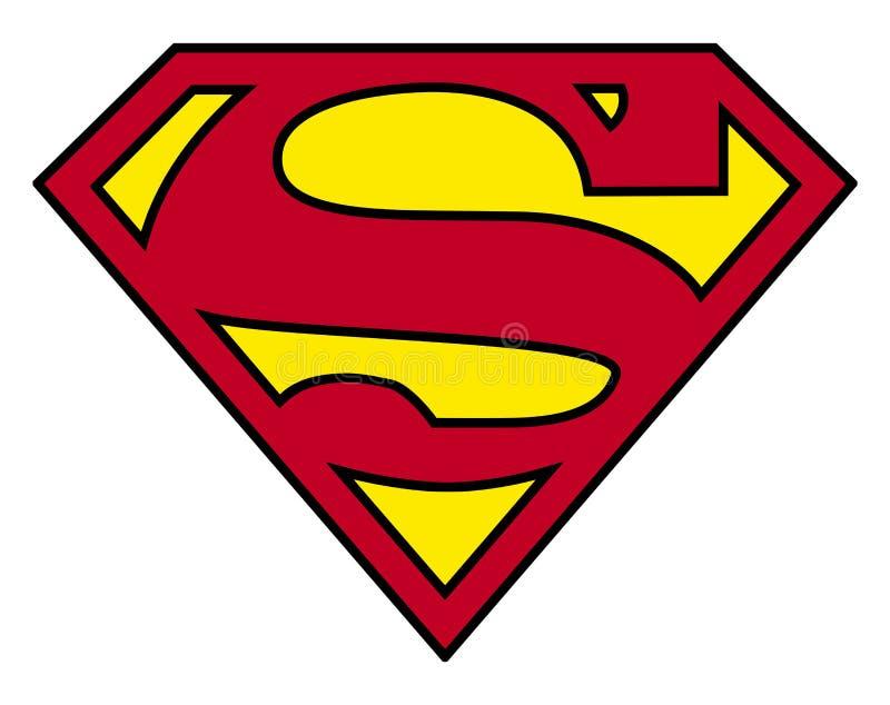 Логотип супермена иллюстрация вектора
