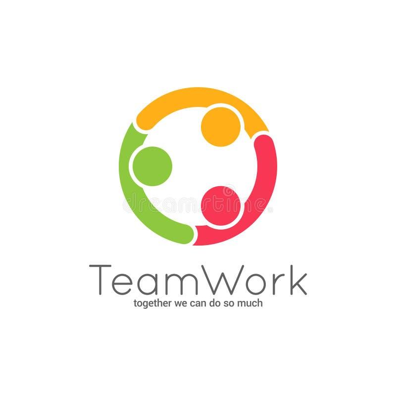 Логотип сыгранности Соединение команды на белой предпосылке бесплатная иллюстрация